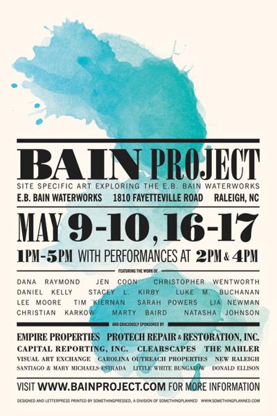 Poster for <em>The Bain Project</em> by <em>somethingpressed</em>