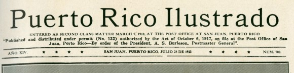 from Puerto Rico Ilustrado, 1923, No. 700