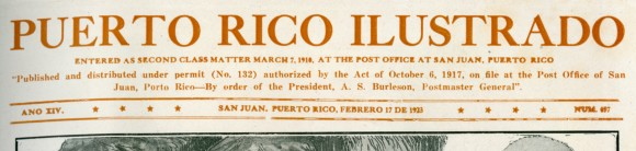 from Puerto Rico Ilustrado, 1923, No. 657