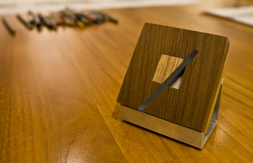 Commemorative piece given to the 2009 recipients of Puerto Rico's Architecture Awards. Design and concept by Alberto Rigau. Fabrication by Roberto Pérez.
