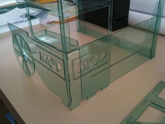 Plastic Prototype of a commercial booth